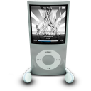 128x128px size png icon of iPodPhonesSilver