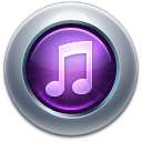 128x128px size png icon of iTunes10 Purple