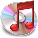 128x128px size png icon of iTunes Rood 3