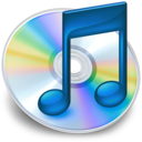 128x128px size png icon of iTunes blauw 2