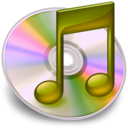 128x128px size png icon of iTunes geel