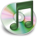 128x128px size png icon of iTunes groen 2