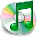 128x128px size png icon of iTunes groen