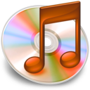 128x128px size png icon of iTunes oranje 2