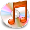 128x128px size png icon of iTunes oranje