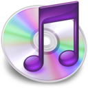 128x128px size png icon of iTunes paars 2