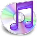 128x128px size png icon of iTunes paars