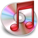 128x128px size png icon of iTunes red