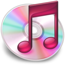 128x128px size png icon of iTunes roze 2