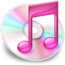 128x128px size png icon of iTunes roze