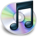 128x128px size png icon of iTunes zwart