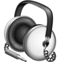 128x128px size png icon of Default white headphones