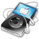 ipod video black apple Icon