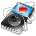 ipod video black favorite Icon