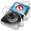128x128px size png icon of ipod video black no disconnect
