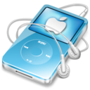 128x128px size png icon of ipod video blue apple