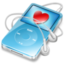 ipod video blue favorite Icon