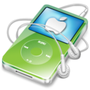 128x128px size png icon of ipod video green apple