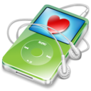 128x128px size png icon of ipod video green favorite