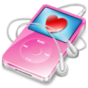 ipod video pink favorite Icon