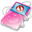 128x128px size png icon of ipod video pink no disconnect