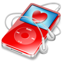 128x128px size png icon of ipod video red favorite