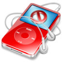 128x128px size png icon of ipod video red no disconnect