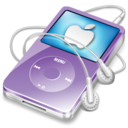 ipod video violet apple Icon