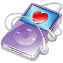 128x128px size png icon of ipod video violet favorite