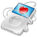 128x128px size png icon of ipod video white favorite