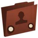 128x128px size png icon of folder user