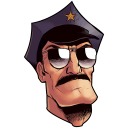 Axe Cop Head Icon