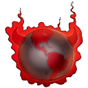 128x128px size png icon of Bad Guy Earth