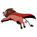 128x128px size png icon of Super Lion Pig