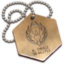 128x128px size png icon of Starbuck's Dogtag