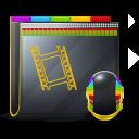 128x128px size png icon of Guyman Folder Video