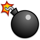 128x128px size png icon of Bomb