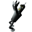 128x128px size png icon of Futurama Bender 1