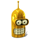 128x128px size png icon of Bender Glorious Golden
