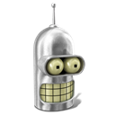 128x128px size png icon of Bender Shiny Metal