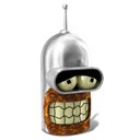 128x128px size png icon of Bender Sober