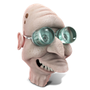 128x128px size png icon of Professor Farnsworth