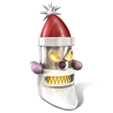 128x128px size png icon of Robot Santa