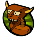 128x128px size png icon of Robot Devil