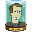 128x128px size png icon of Al Gore's Head