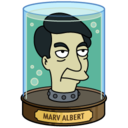 128x128px size png icon of Marv Albert's Head