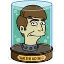 128x128px size png icon of Walter Koenig's Head