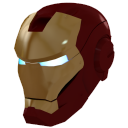 128x128px size png icon of Ironman Mask 1 Gold