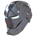 128x128px size png icon of Ironman Mask 2 Silver