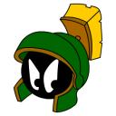 128x128px size png icon of Marvin Martian Angry